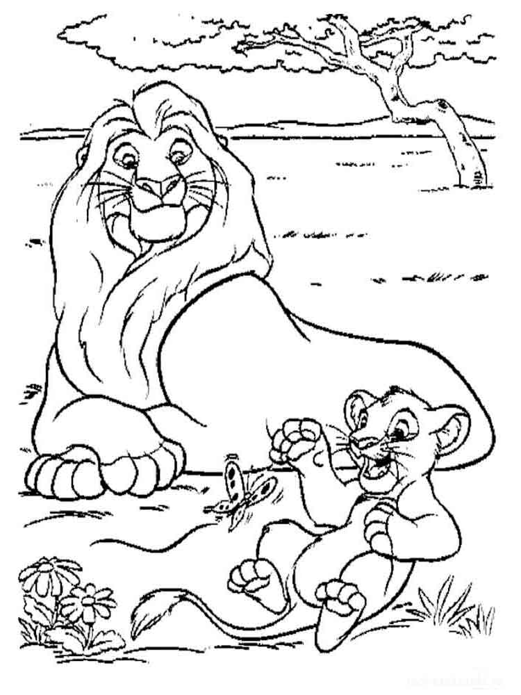 The Lion King coloring pages. Download and print The Lion King ...