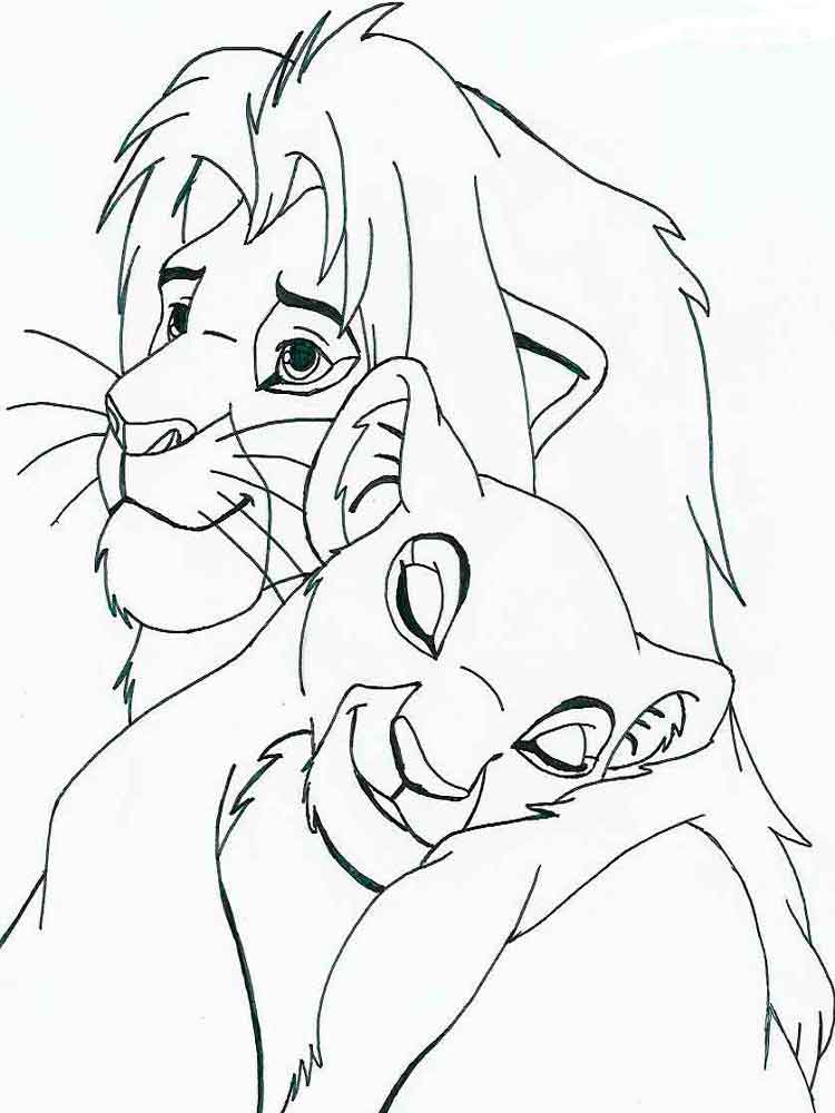 The lion king coloring pages download and print the lion for Disney lion king coloring pages