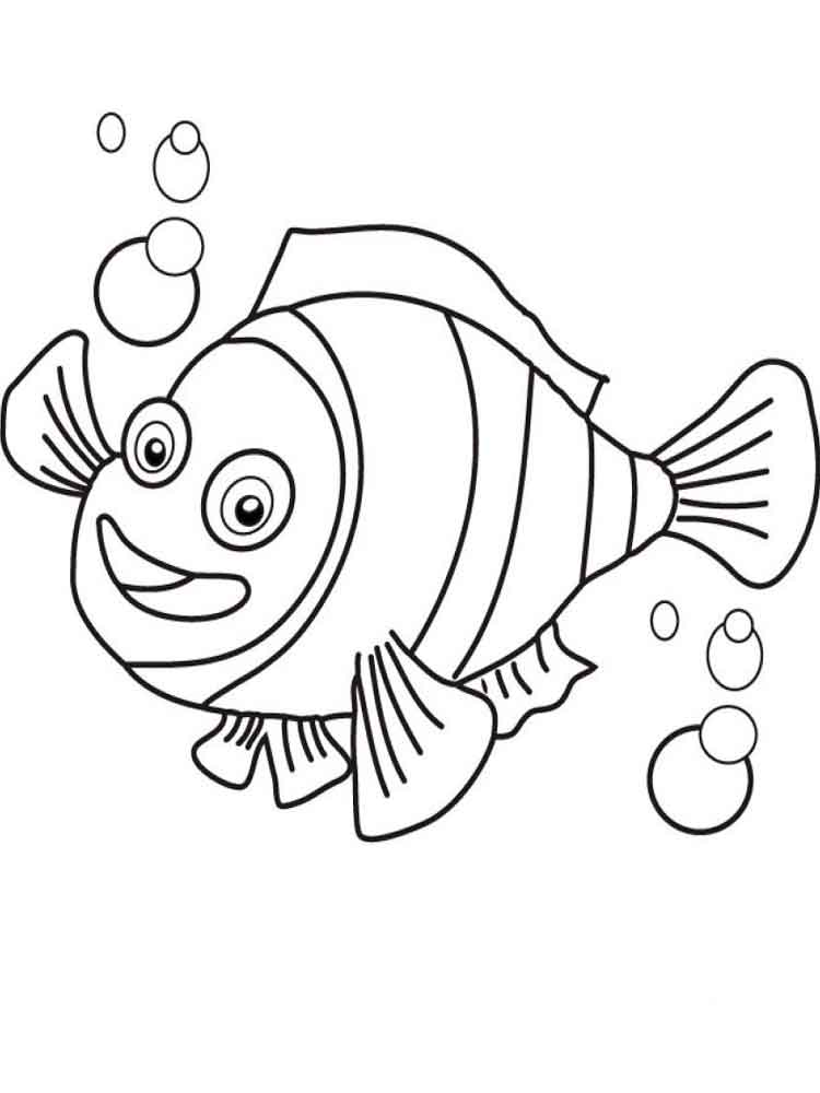 Clownfish coloring pages. Download and print Clownfish coloring pages.