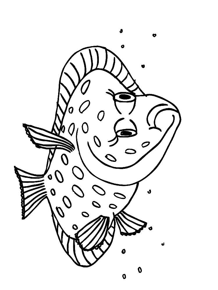 Flounders Coloring Pages 2