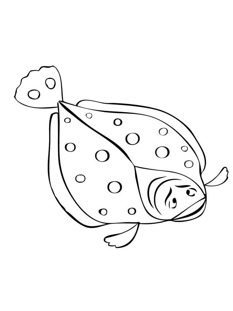 Flounders Coloring Pages 6