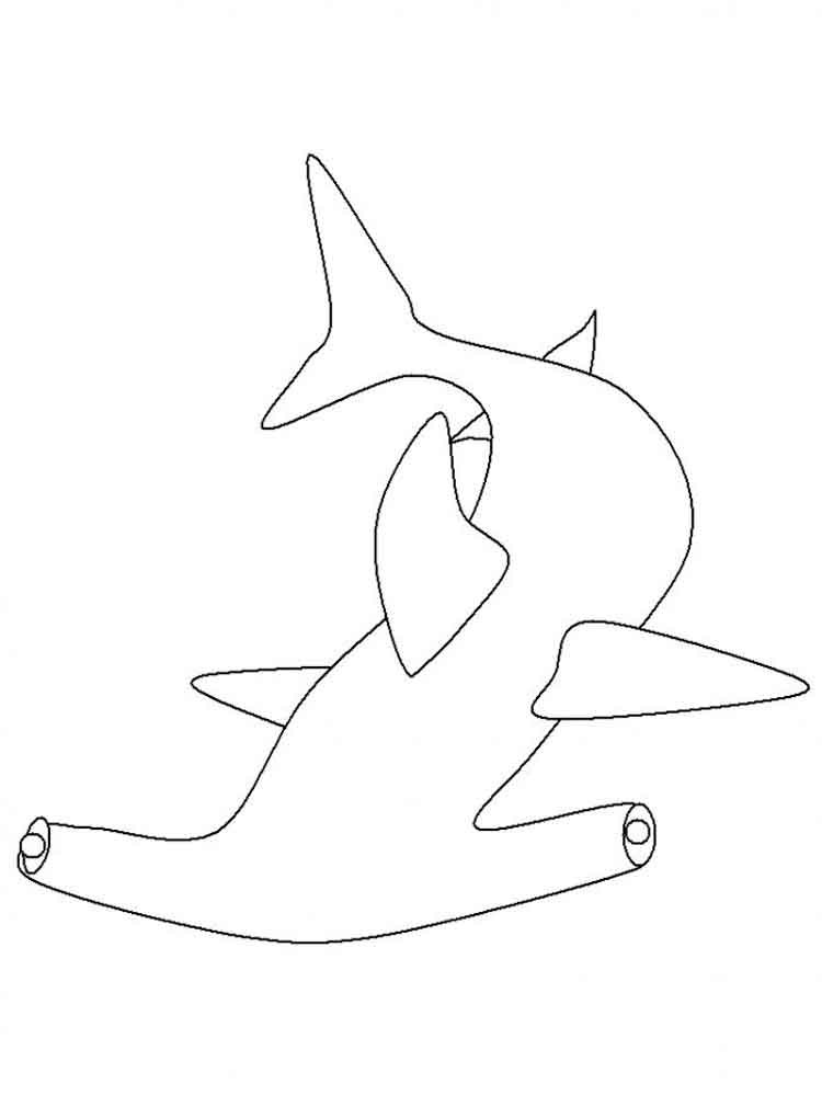 Hammerhead Shark coloring pages. Download and print ...