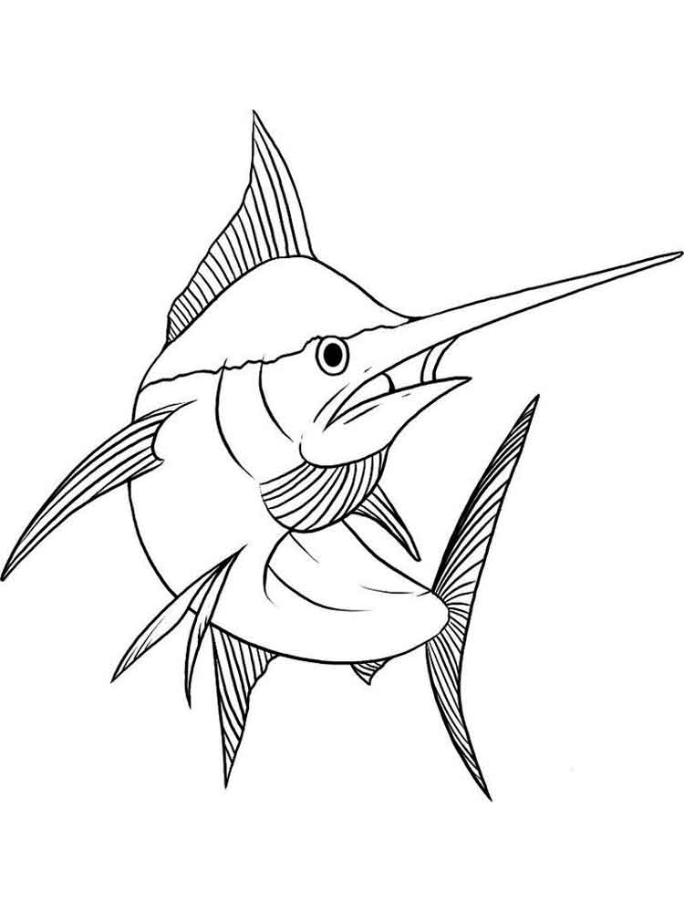 Marlin coloring pages Download and print Marlin coloring