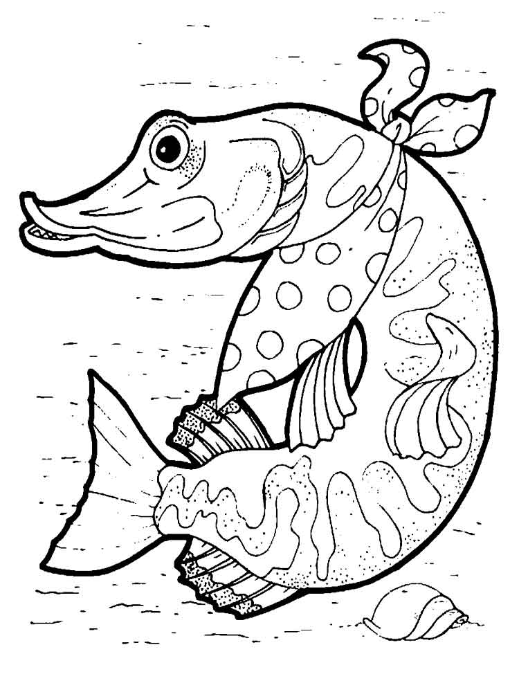 tuna fish coloring page - pike coloring pages download and print pike coloring pages