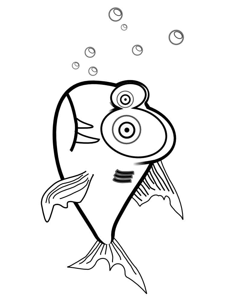 Printable Picture Of A Piranha Coloring Pages