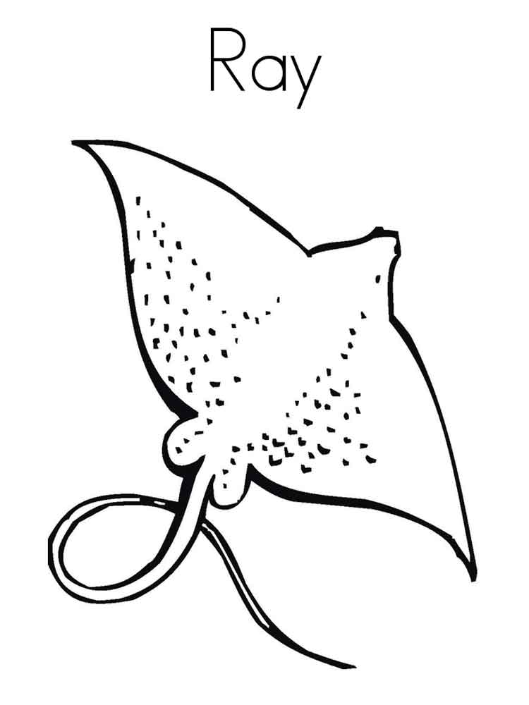 Ray coloring pages Download and print Ray coloring pages