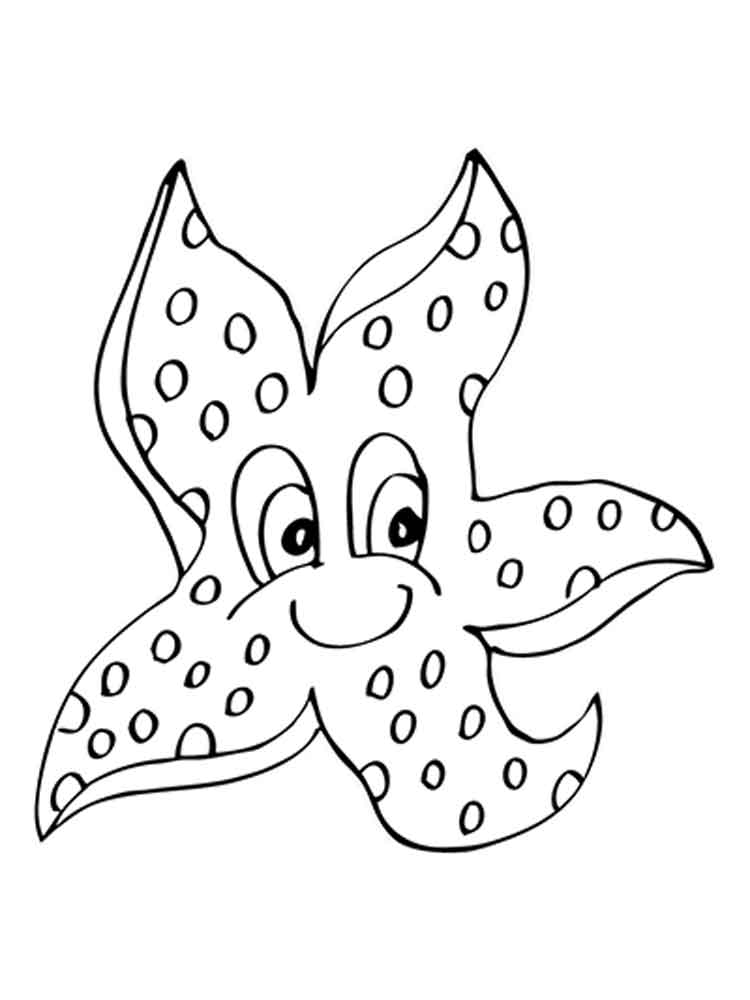 Starfish coloring pages. Download and print Starfish coloring pages.