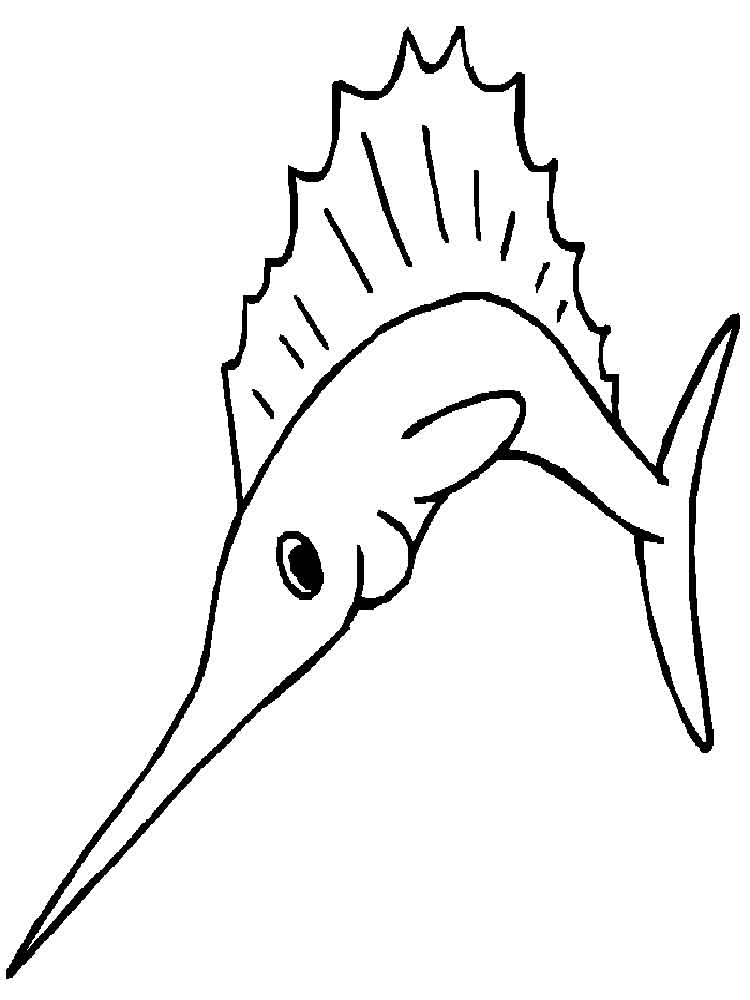 swordfish coloring page  Coloring Pages