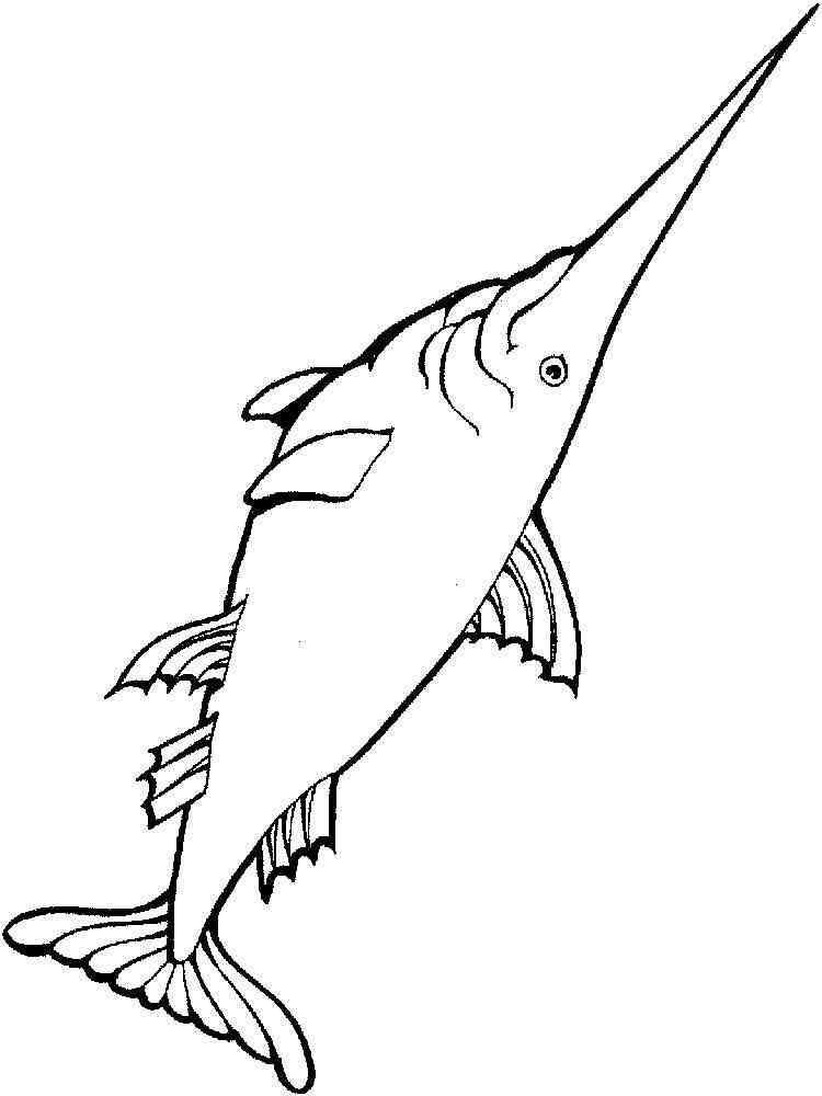 Swordfish coloring pages. Download and print Swordfish ...