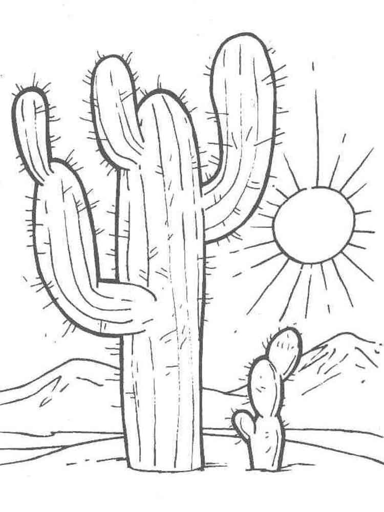 Christmas cactus coloring page coloring pages for Christmas cactus coloring page