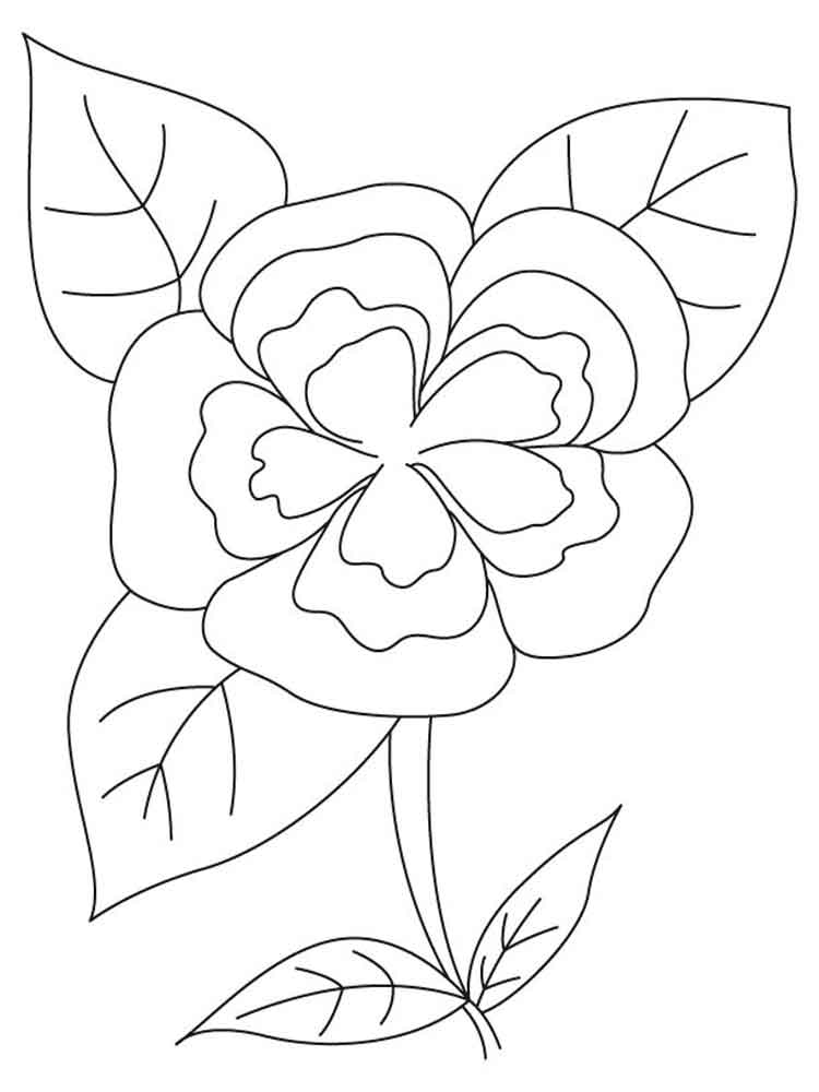 Camellia Flower Coloring Pages 10