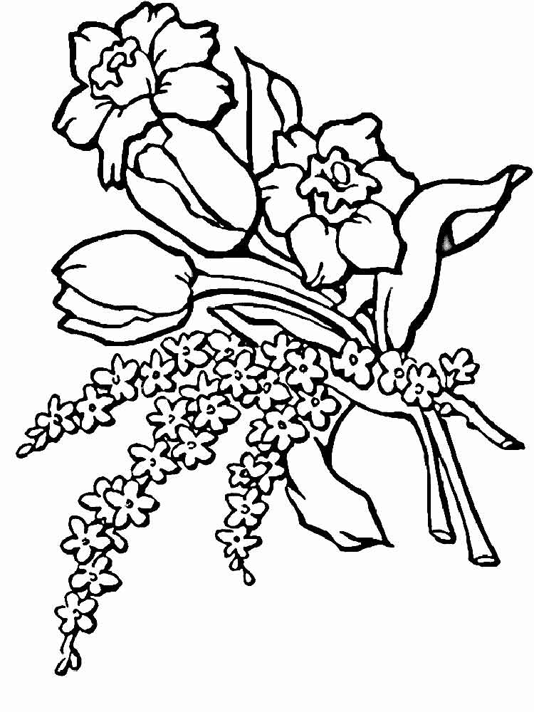Flower Bouquet coloring pages. Download and print Flower Bouquet ...