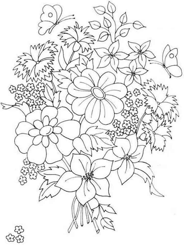 Flower Bouquet coloring pages