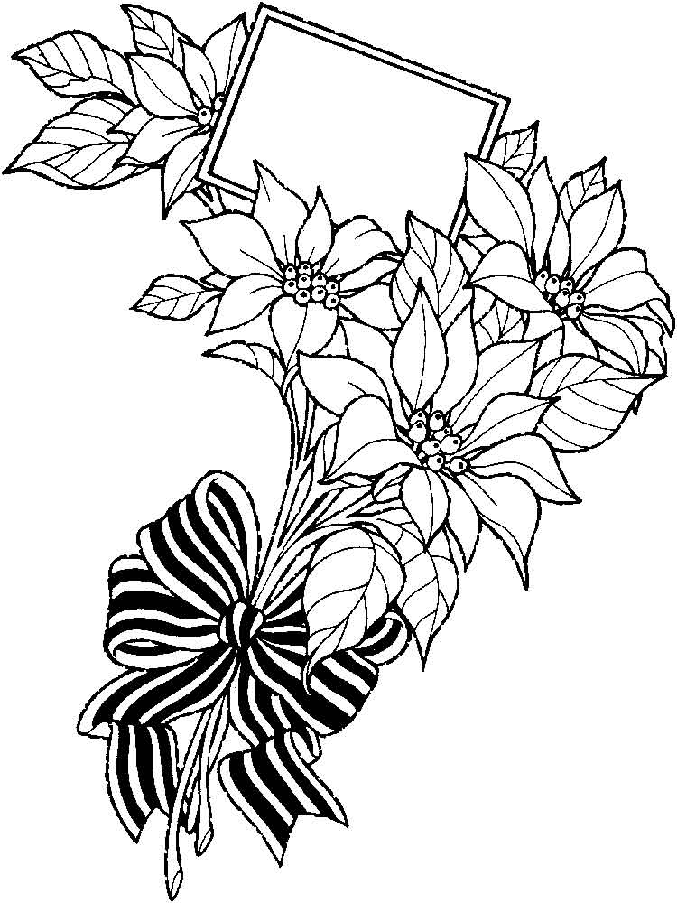 flower bouquet coloring page 8