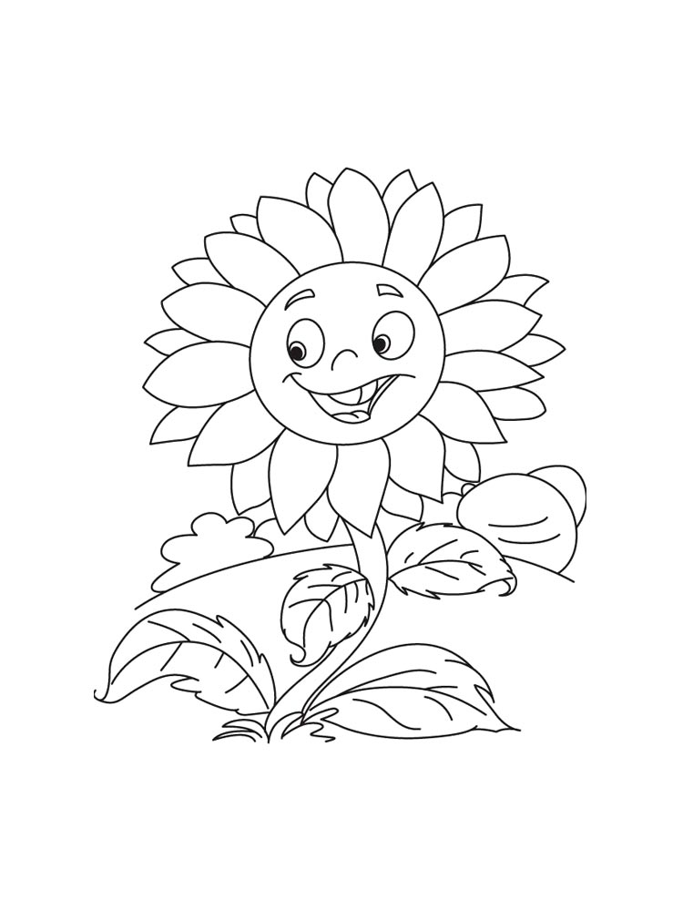 Sunflower Flower Coloring Pages 11