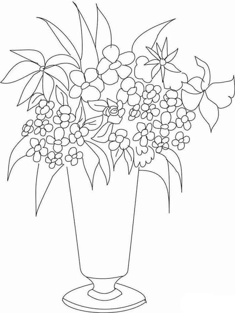 flower vase pictures to color - photo #12