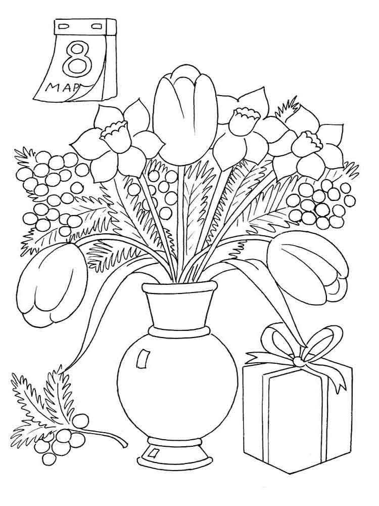flower vase pictures to color - photo #23