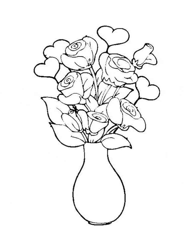 flower vase pictures to color - photo #19