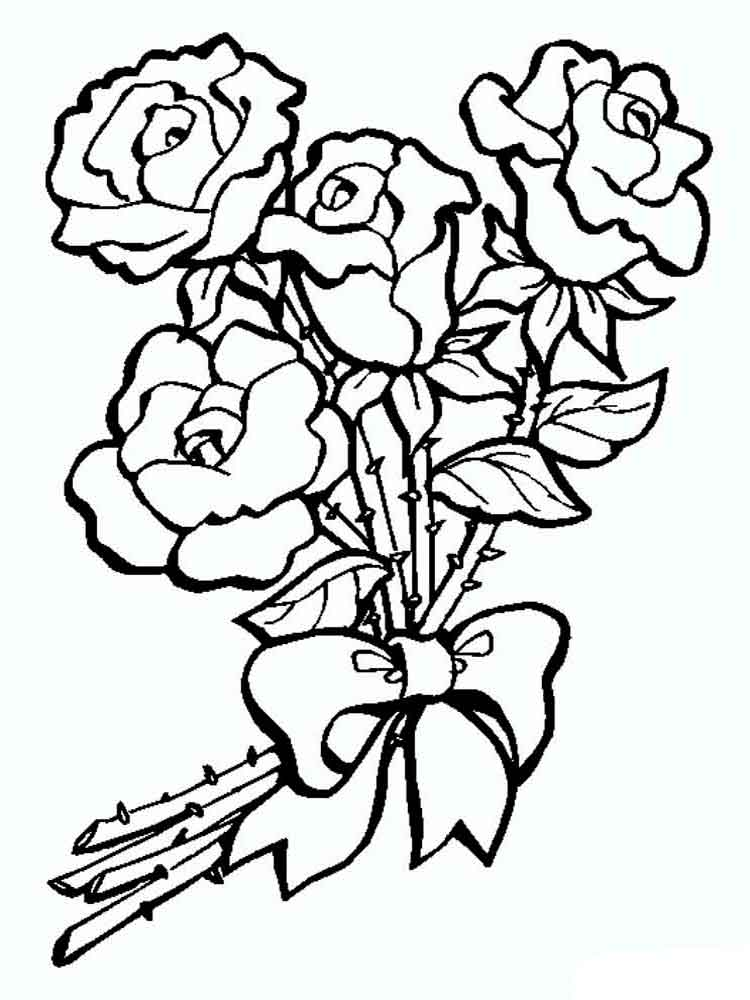 rose coloring pages download and print rose coloring pages