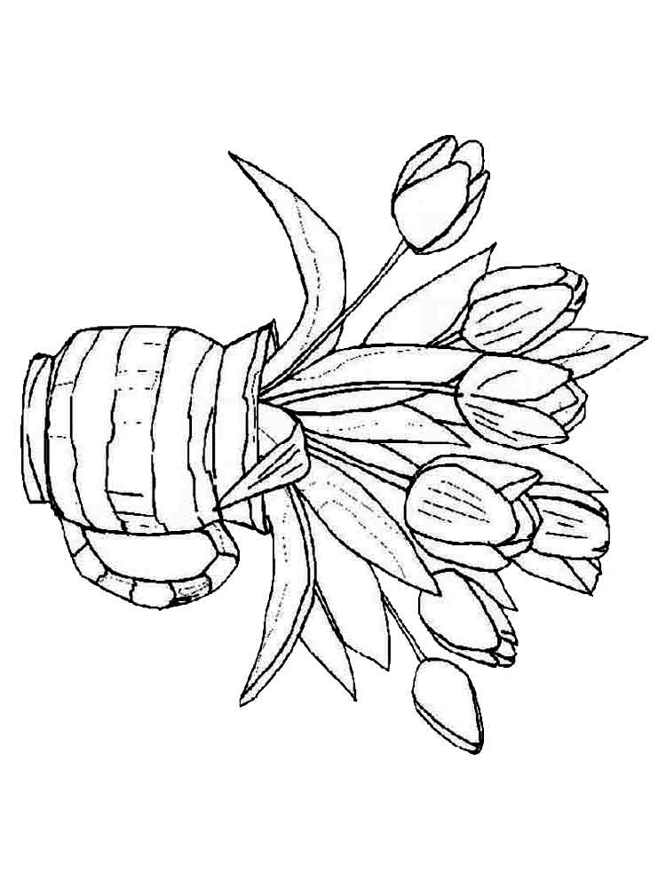 Nice Tulip Coloring Pages Pattern