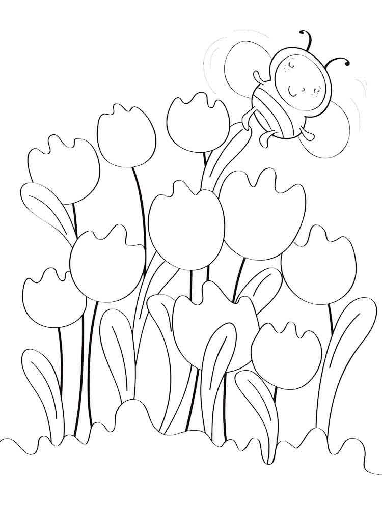 Tulip coloring pages Download