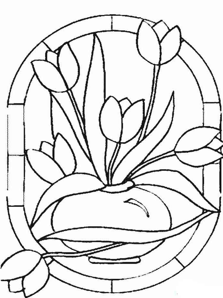 Tulip Coloring Pages Download And Print Tulip Coloring Pages