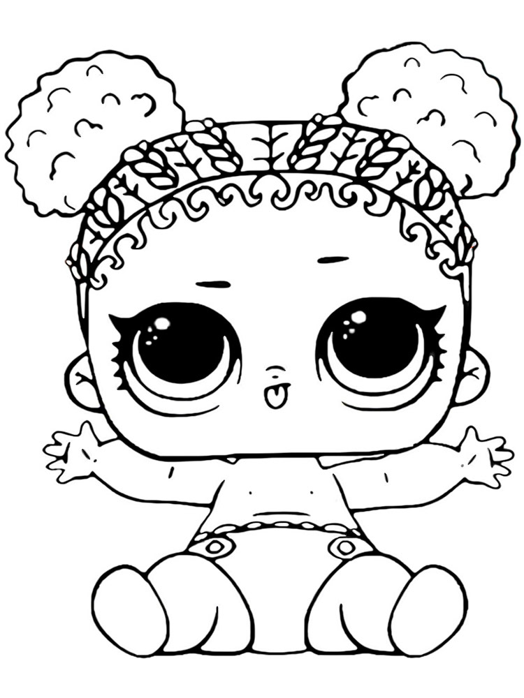 Baby LOL Surprise coloring pages. Download and print Baby ...