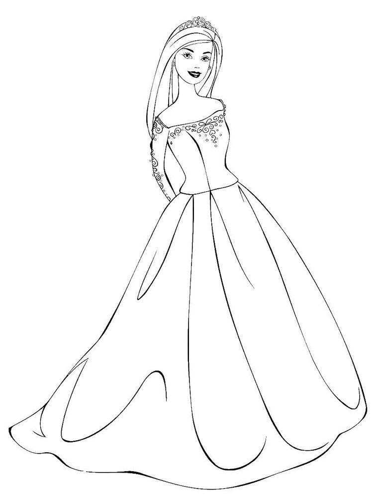 Barbie Princess coloring pages. Download and print Barbie ...