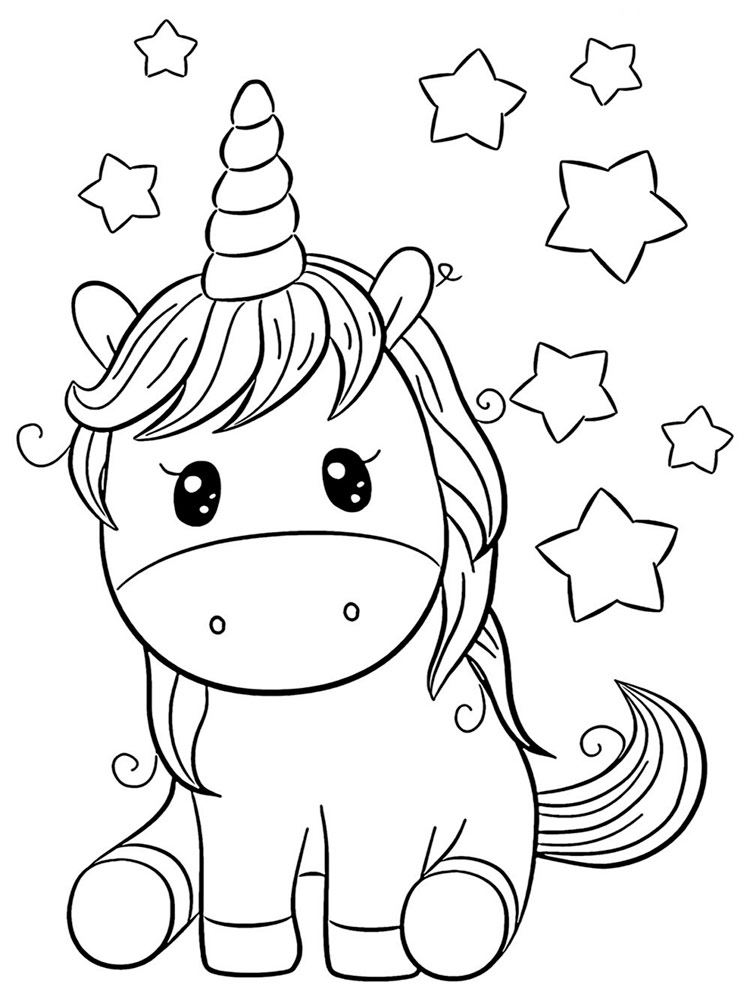 Cute Unicorns coloring pages. Download and print Cute ...