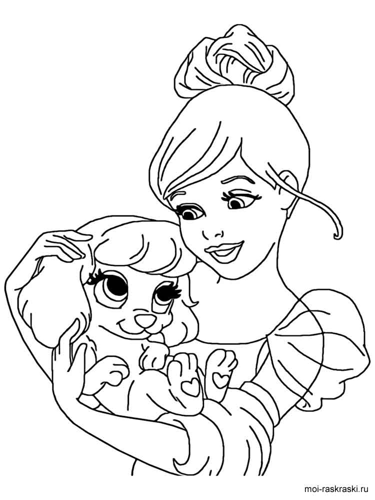 Disney Palace Pets Coloring Pages Download And Print