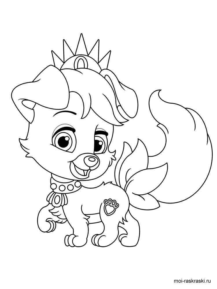 Disney Palace Pets coloring pages. Download and print ...