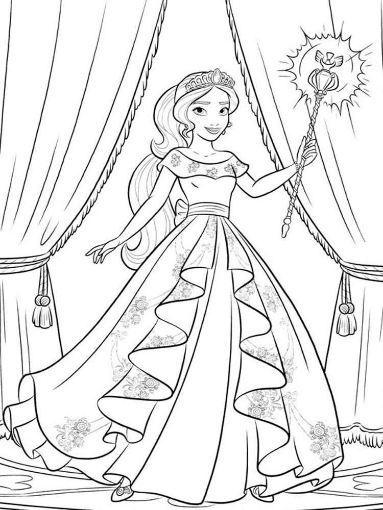 - Elena Of Avalor Coloring Pages. Download And Print Elena Of Avalor Coloring  Pages