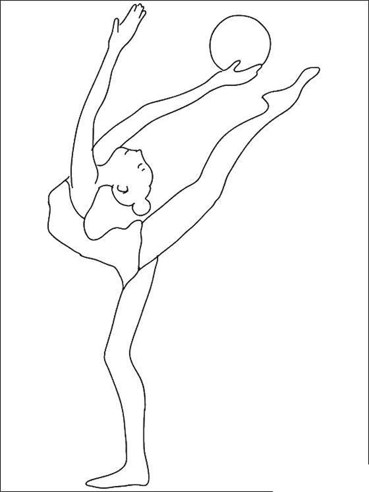 Gymnastics coloring pages. Download and print Gymnastics ...