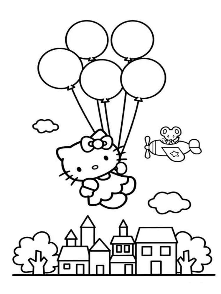 Hello Kitty coloring pages. Download and print Hello Kitty