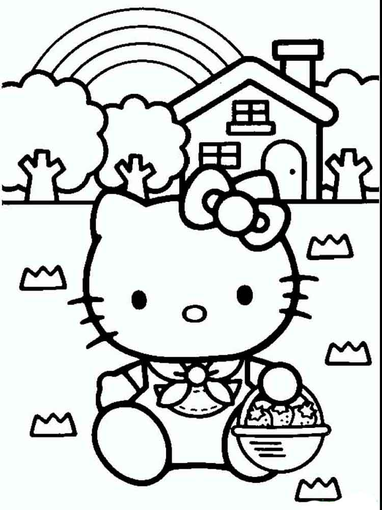 Hello Kitty coloring pages. Download and print Hello Kitty ...