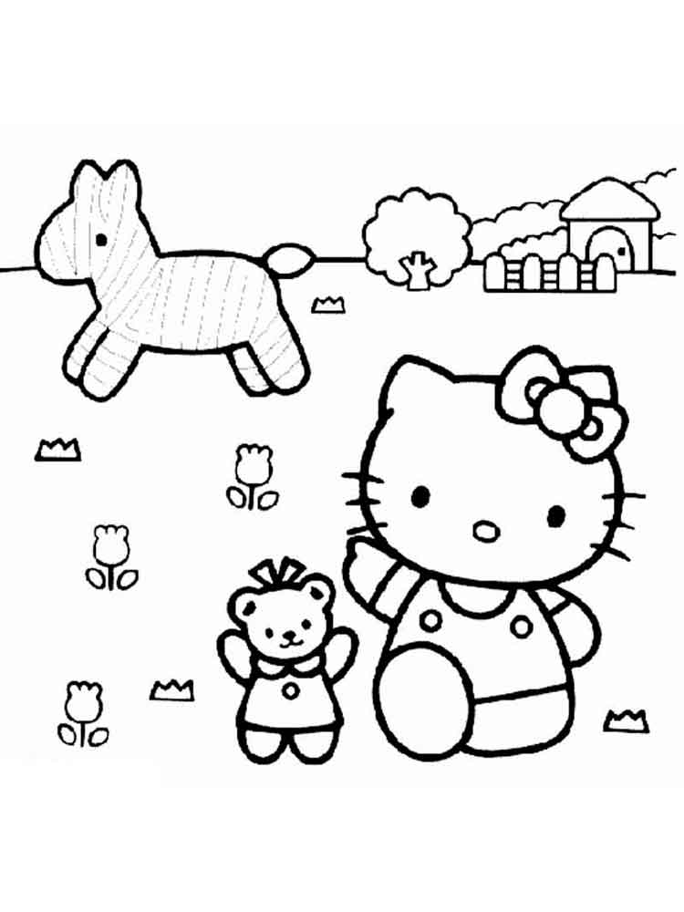 Coloring Pages Hello Kitty Dolphin : Hello kitty coloring pages page