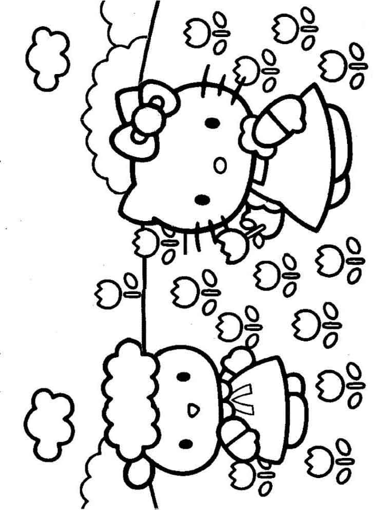 japanese hello kitty coloring pages - photo#30