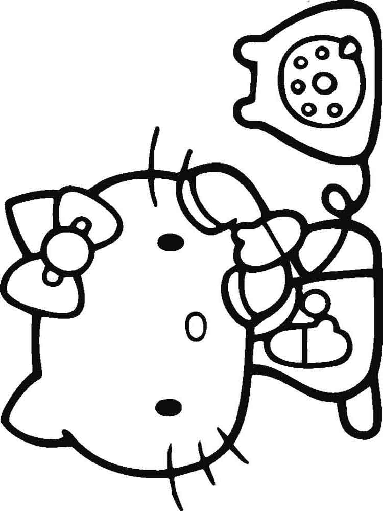 Hello kitty coloring pages download and print hello kitty for Images of hello kitty coloring pages