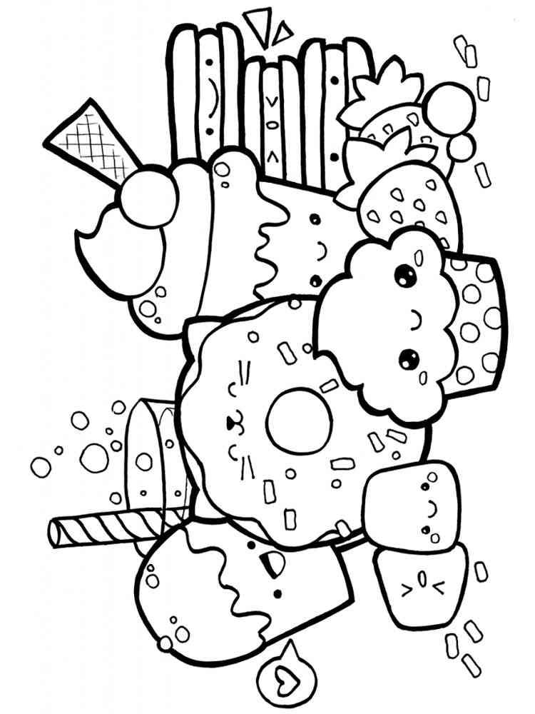 Kawaii coloring pages. Download and print Kawaii coloring ...