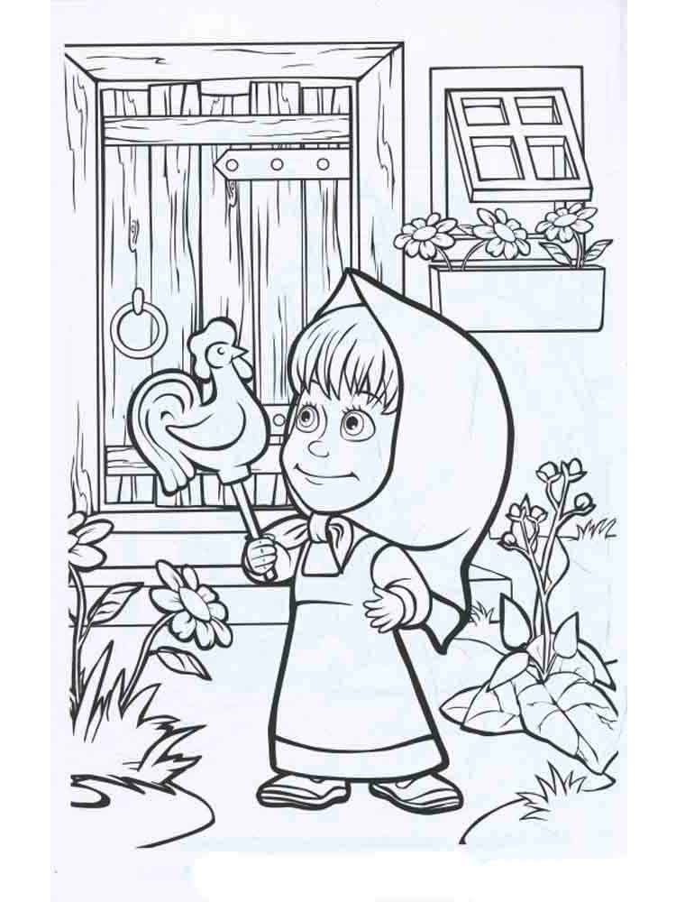 Masha And The Bear Coloring Pages Download And Print