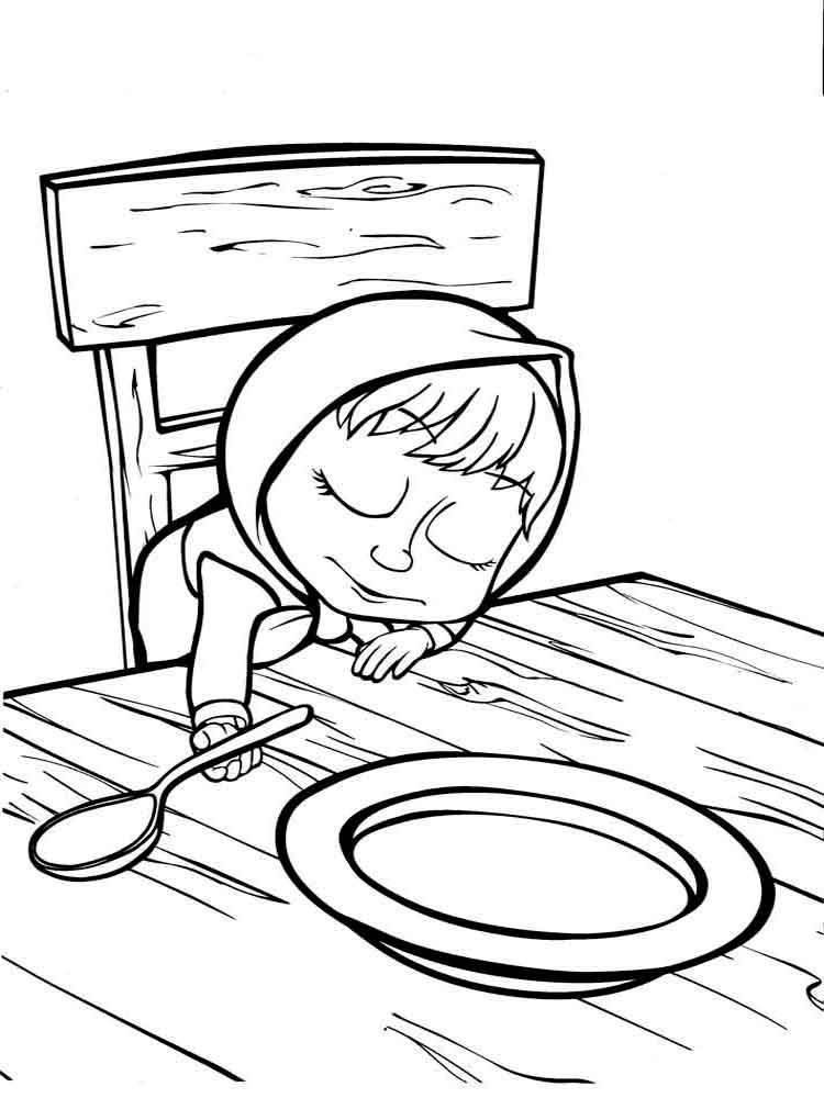 ... coloring pages. Download and print Mascha and The Bear coloring pages