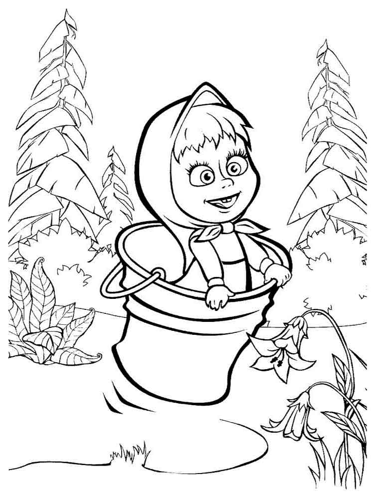 Masha and The Bear coloring pages. Download and print ...