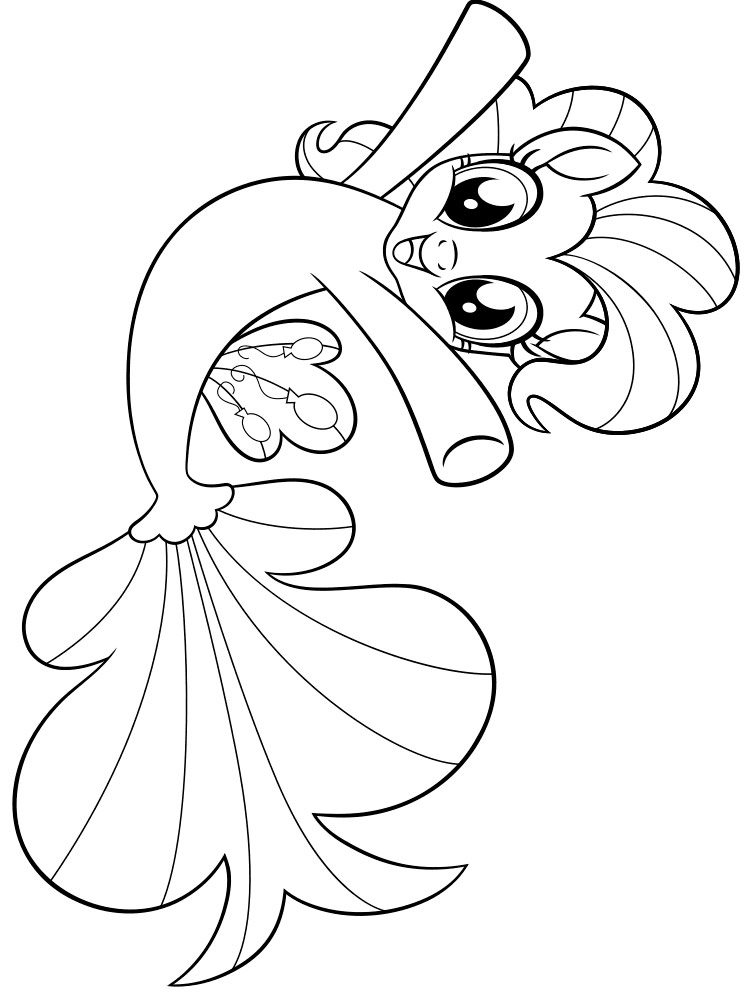 My Little Pony Mermaid Coloring Pages Download And Print My Little Pony Mermaid Coloring Pages