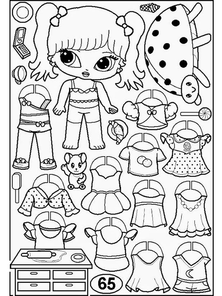 Paper Dolls coloring pages. Download and print Paper Dolls ...