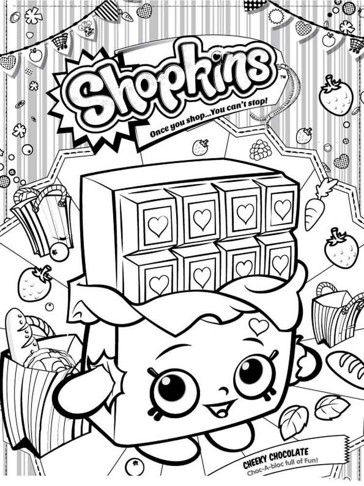 Shopkins Coloring Pages. Download And Print Shopkins Coloring Pages