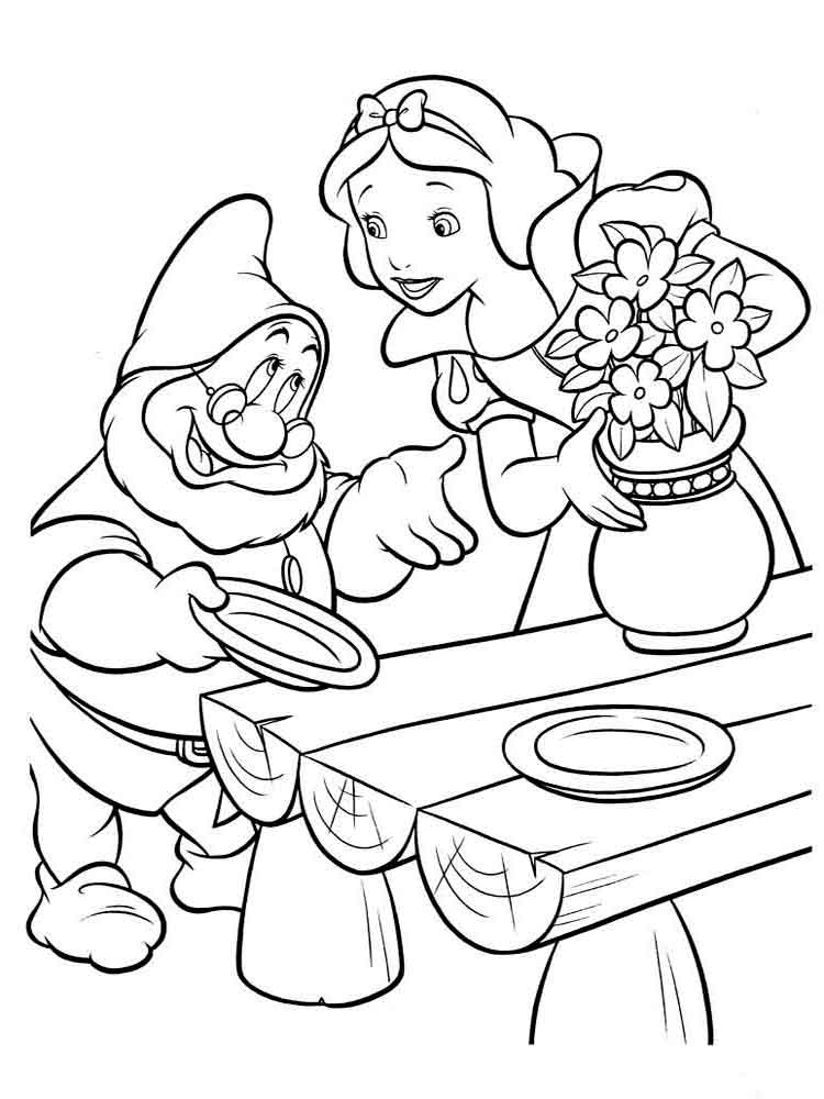 Snow white coloring pages. Download and print Snow white ...