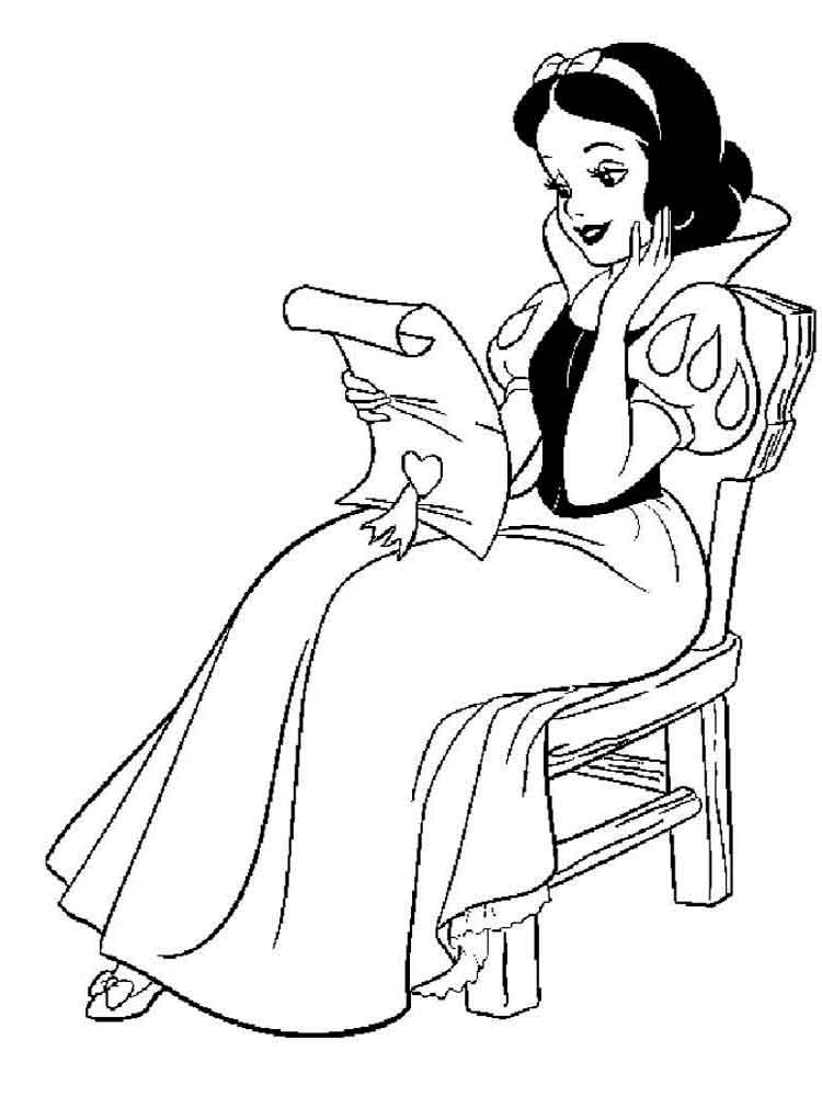 Snow white coloring pages Download