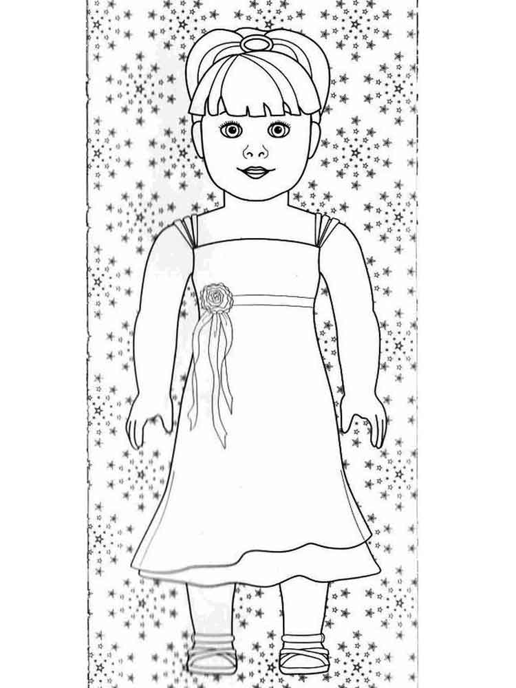 American Girl Doll Coloring Pages. Free Printable American Girl Doll  Coloring Pages.