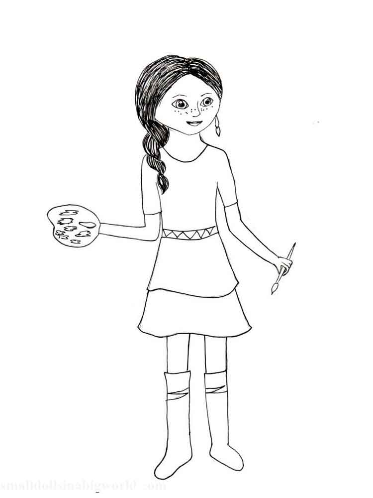 American Girl Doll coloring pages