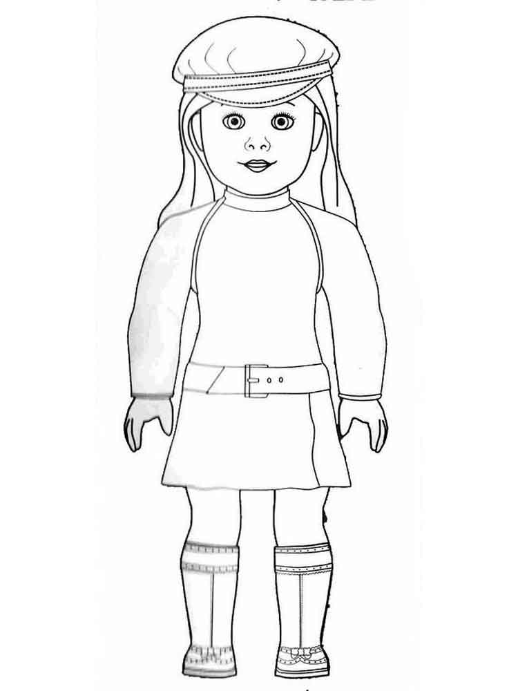 - American Girl Doll Coloring Pages. Free Printable American Girl Doll  Coloring Pages.